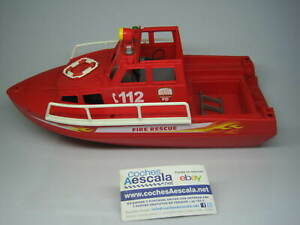 Playmobil Famobil Fire rescue boat barco bomberos rescate 3128 salvamento
