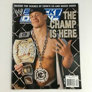 WWE Smack Down Magazine June 2005 The Champ John Cena w Poster No Label VG