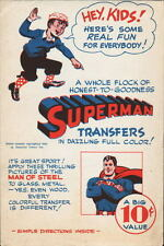 1944 SUPERMAN TRANSFERS COMPLETE w ORIGINAL ENVELOPE Early Superman Merchandise