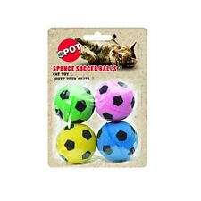 Ethical Sponge Soccer Balls Cat Kitten Toy Colorful Interactive  4-Pack