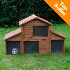 WEATHERPROOF Outdoor Pet Rabbit Hutch Castle Cage Enclosure LARGE Spacious Run