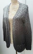 Atmosphere Ladies Size 8 Grey Ombre Long Embellish Cardigan Spring Fashion Knit