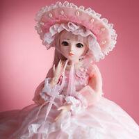 60cm 1/3 BJD Puppe Doll Mädchen Puppen + Kostenlose Kleidung Augen Geschenk Girl