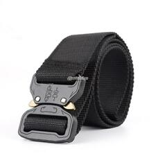 Outdoor Army Training Belt Tactical Thicken Nylon Metal Belt with Cobra Buckle