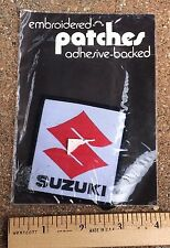 NIP Vintage Suzuki Cars Motorcycles Logo Adhesive Patch