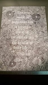 Highly detailed inkposter drawn by hand, with William Morris quote. LIMITED.