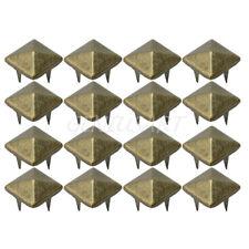 Wholesale 100pcs Square Pyramid Rivet Metal Studs Spots Spikes Leathercraft DIY
