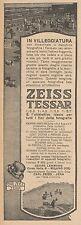 Z3043 Obbiettivo fotografico ZEISS Tessar - Pubblicità d'epoca - 1927 old advert