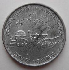 WORLD EXHIBITION MONTREAL 1967 COIN TOKEN