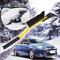 Car Ice Scraper with Brush Windshield Snow Removal Frost Handle Shovel Broom US