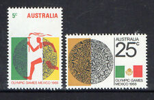 AUSTRALIA 1968-OLYMPIC GAMES MEXICO COMPLETE SET OF 2 MUH