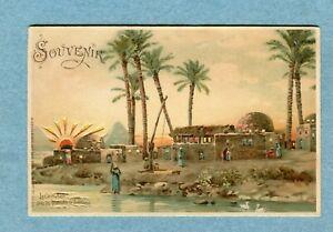 """A7172 Postcard  Die Cut HTL  """"Souvenir""""  Pyramids Located Near The Sakkarah"""