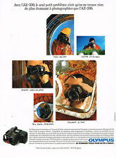 PUBLICITE ADVERTISING 025  1990  OLYMPUS  appareil photo   AZ 330