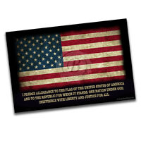 American Flag with the Pledge of Allegiance Poster - 2 Sizes Available