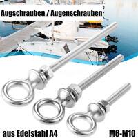 Augschrauben Augenschrauben Boot Ösenschraube Augbolzen aus Edelstahl A4 M6-M10
