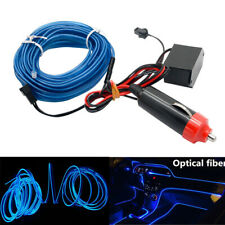 Car Flexible LED Neon Light Glow EL Strip Tube Wire Rope + 12V Cigarette Adapter