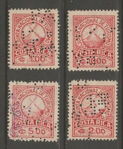 Costa Rica Fiscal Revenue Stamp 9-21-20 used two scans punched cancel scarce