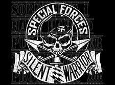 Special forces Silent Warrior decal sticker vinyl CHOPPER TRIKE CUSTOM 4X4 rebel