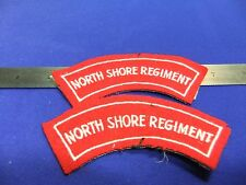 badge north shore regiment shoulder title patches cloth felt embroidered army