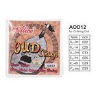 Alice 12-String Oud String G-D-A-E-B-F Nylon Core Silver Plated .022-.033 H5E8