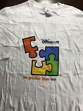Microsoft Office 2000 Launch Promo Puzzle White T-Shirt Sz XL X-Large