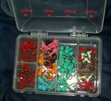 HAPPY Valentines Assorted Sized Jig Heads with Collar on Eagle Claw Hooks in Box