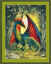 RIOLIS 0057PT Dragon Forest Counted Background Printed