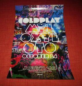 COLDPLAY - MYLO XYLOTO / RARE PROMO POSTER / 2011