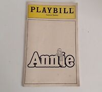 Playbill 1980 Annie Colonial Theatre Mary Lombardi Broadway Theater