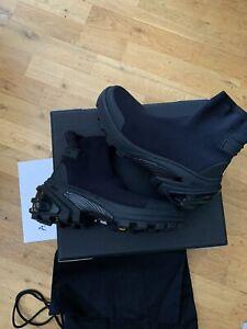 1017 ALYX 9SM BLACK MID SOCK SNEAKER BOOTS VIBRAM EU41 BRAND NEW RRP £880
