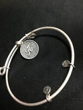 Alex And Ani Initial A Charm Rafaelian Silver Finish Bangle Bracelet