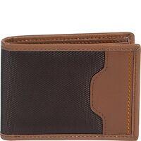 Travelon RFID Blocking Safe ID Leather Trim Bi-fold Billfold Wallet 82864