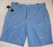 Men's POLO by Ralph Lauren Shark Fish Shorts Blue Size 33 NEW SOLD OUT $79.50!