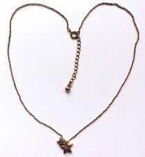 Collar de Bisutería, Mujer Metal Dorado Doble Cadena con Colgante con Estrella,