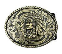 Boucle de ceinture décoration style indien western turquoise.