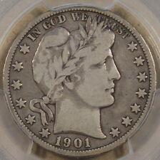 1901-O Barber Half Dollar 50c PCGS Certified F12