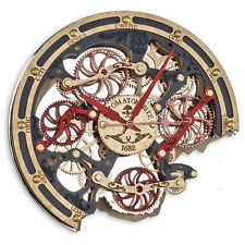 Automaton Bite 1682 Khokhloma HANDCRAFTED moving gears steampunk wall clock