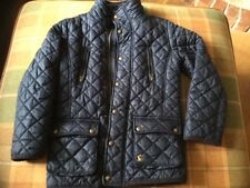 Boys Joules Navy Blue Quilted Coat/Jacket, Age 8 Years, Good Used Condition