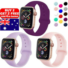 For Apple Watch iWatch Series 5 3 4 38/40/42/44mm BEST SILICONE Sport Strap Band