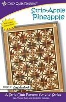 Strip-Apple Pineapple Quilt Pattern by Cozy Quilt Designs Jelly Roll Friendly