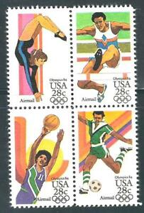 USA - Airmail MNH Block of 4  Stamps - 28c Summer Olympics..........#C101 - C104