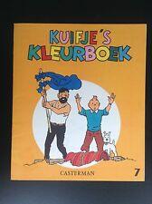 Album Cahier à colorier  Kuifje's Kleurboek Tintin N° 7 1969 ETAT NEUF