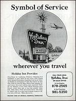 1967 Holiday Inns America Motel Memphis travel airplane vintage art print ad S11
