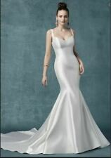 Classic Fit & Flare Teagan by Maggie Sottero Ivory Mikado Sweetheart Size 12 NWT