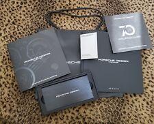 Rare Porsche Design Power Bank (cell/iPad, Etc), + Watch Book + Cologne Sample