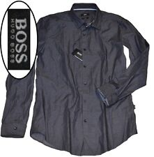NWT Hugo Boss Black Label By Hugo Boss Slim Fit Check Pattern Sport Shirt