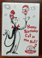 """1996 VTG Dr.Seuss """"The Cat in the Hat"""" 40th Birthday Postcard GoCard"""