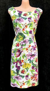 VERY VERY BRAND Colourful Floral Cotton Shift Summer Dress sz 14