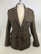Authentic Fossil Ladies Glenplaid safari jacket Size Medium