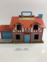 Vintage 1980 Fisher Price Little People Tudor House Brown 952